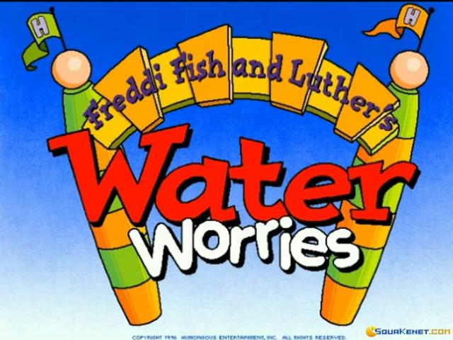Freddi Fish and Luther's Water Worries - title cover