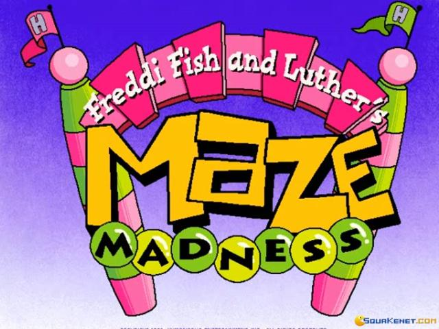 Freddi Fish & Luther's Maze Madness - title cover