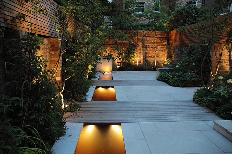 How to design small gardens garden design journal - How to design outdoor lighting plan ...