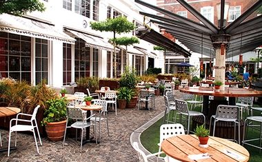 Project: The Bluebird Cafe courtyard