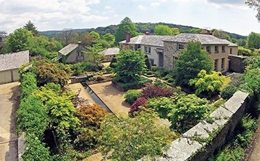 Designer country garden in Cornwall