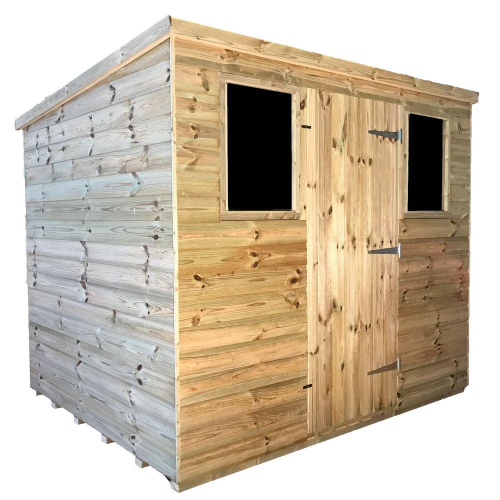 tanalised garden shed titan 2 pent c