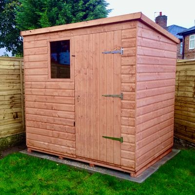 Wooden Shed Workshop Pent Model B