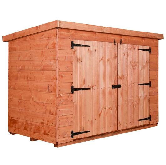 Wooden Pent Bike Shed