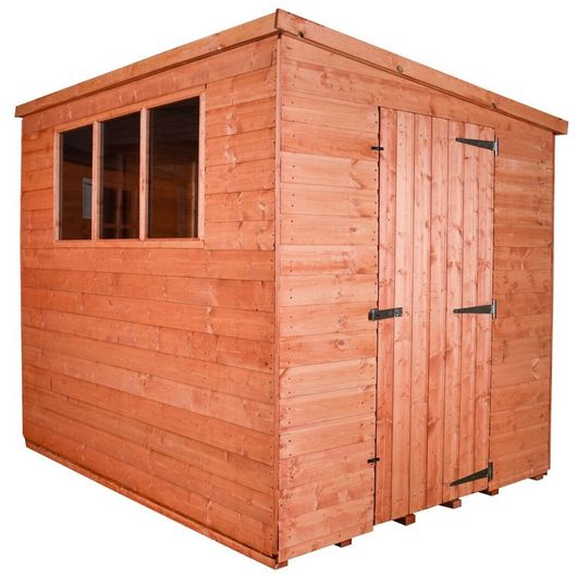 Wooden Shed Workshop Pent Model D
