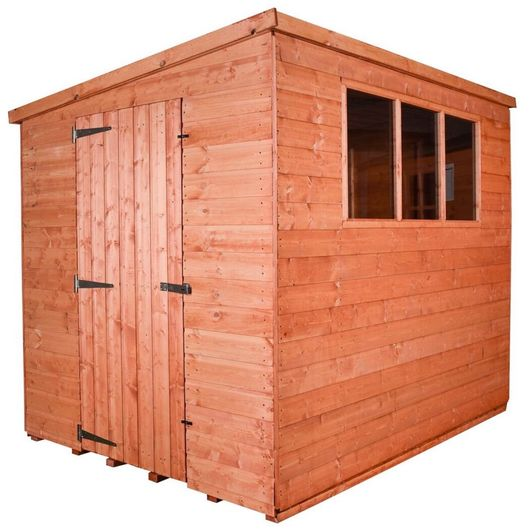 Wooden Shed Workshop Pent Model E