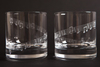 Set of 2 - 'Town I Love So Well' -10oz Whiskey Glass -, Blue Casket Box