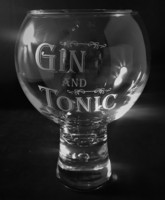 Chunky Gin Glass - Gin & Tonic, Blue Box