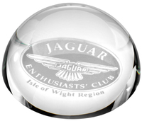 GLASS DOMED PAPERWEIGHT