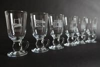 Irish Coffee Glasses - Views of City -Set of 6, Blue Casket Box