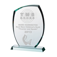 """10.5"""" Glass Plaque 15mm, Satin Lined Box"""