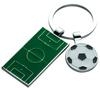 FOOTBALL PITCH AND BALL KEYRINGS