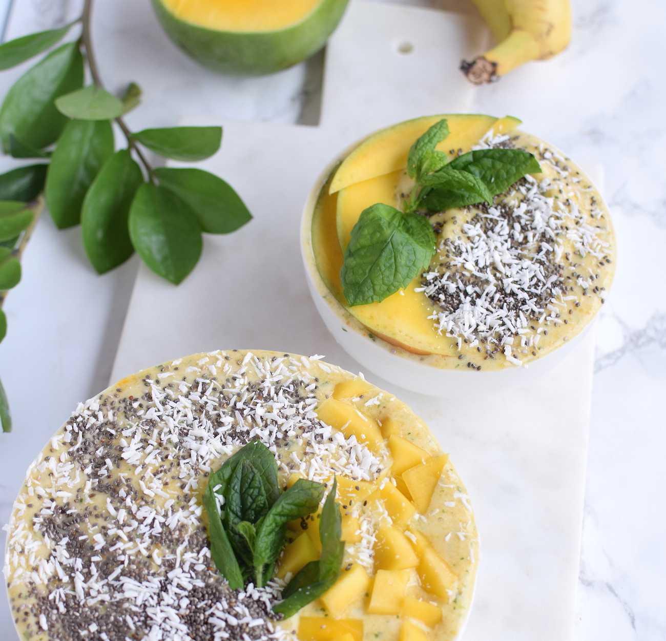 Mango- & myntasmoothie
