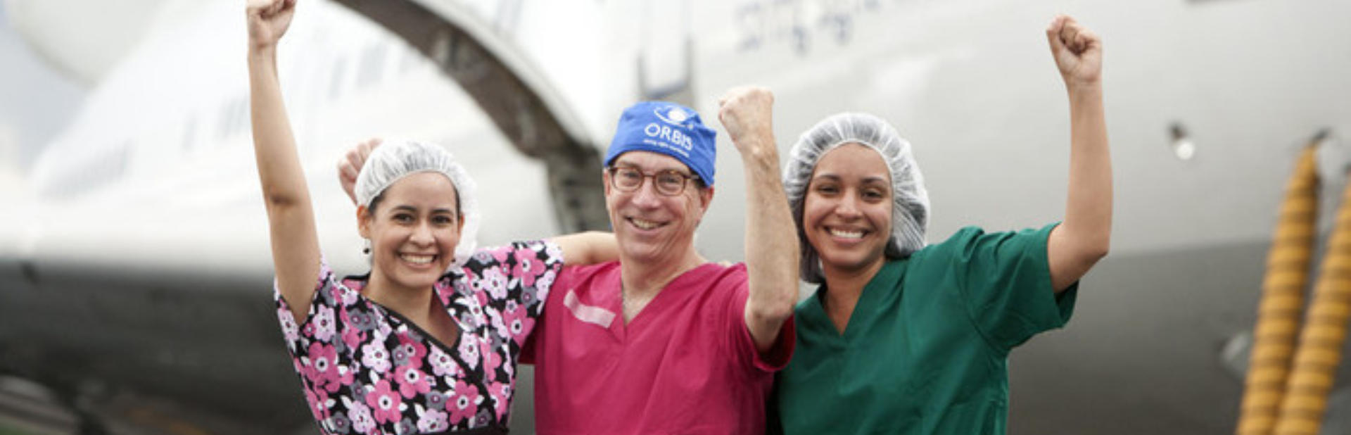Orbis Volunteer And Oculoplastics Specialist Dr  James Oestreicher Center Worked Side By Side With Panamanian Physicians Yael Chavez Left And Ivonne Alvarado  Chavez Practices Oculoplastic Surgery