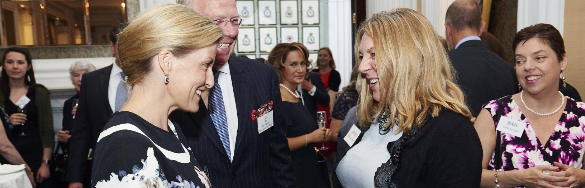 HRH The Countess of Wessex talks to Rebecca Cronin, CEO of Orbis UK