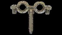 Abrazadera doble M6 con tirafondo