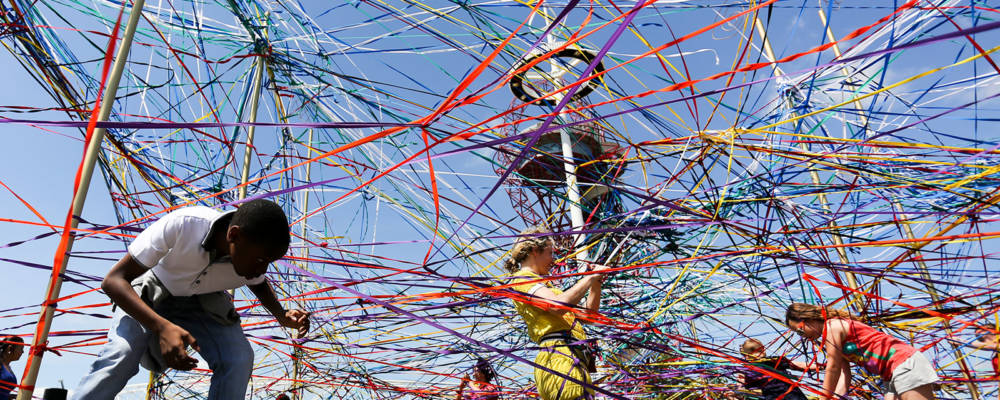 Tangle by Polyglot at Queen Elizabeth Olympic Park, Stratford in 2015