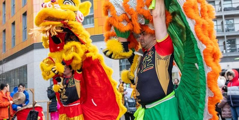 Lion Dance & Chai Ching, Newham Chinese Association, Rathbone Roots, 2021.