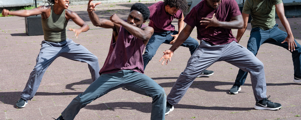 Joseph Toonga, Born to Protest, Dancing City - Various Artists, GDIF, Canary Wharf estate, 4th September 2021