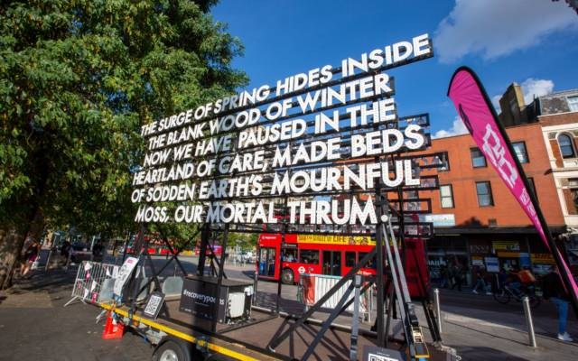 Recovery Poems, Emergency Exit Arts, GDIF 2021.