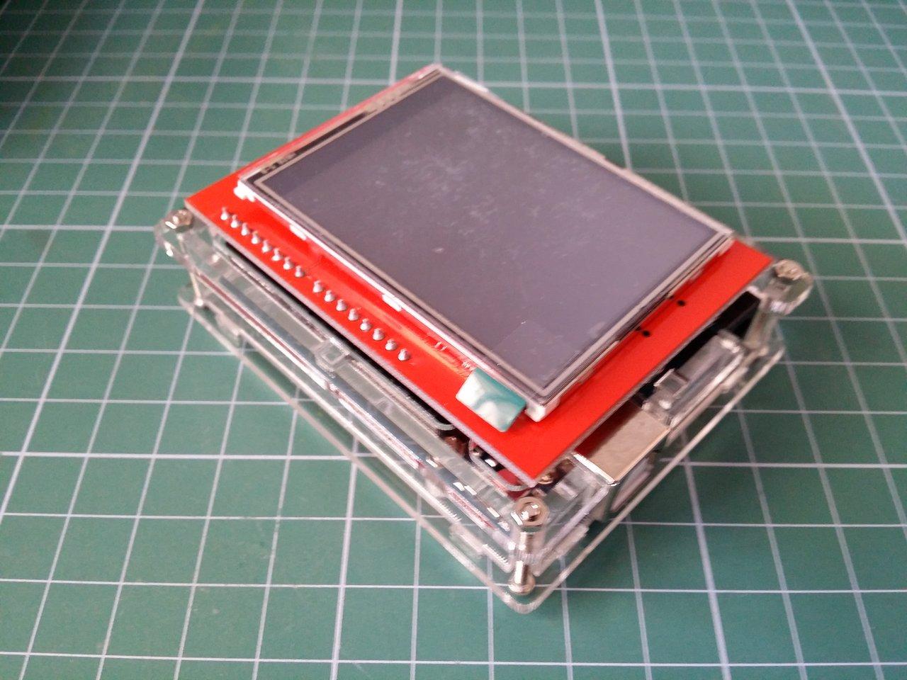 Touch Screen module + Arduino UNO R3