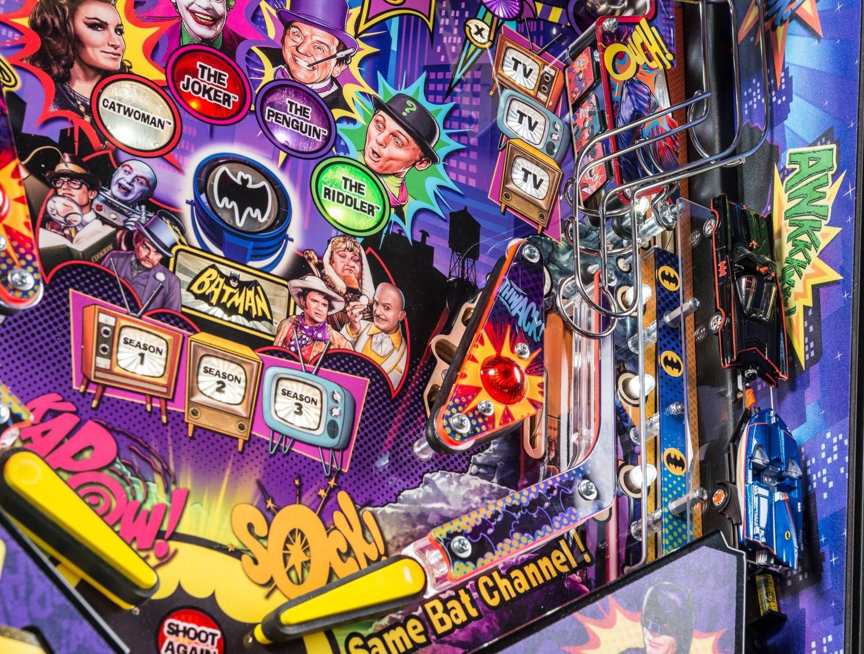 Batman 66 playfield detail