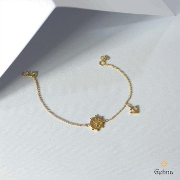 Nautical 18k Gold Bracelet