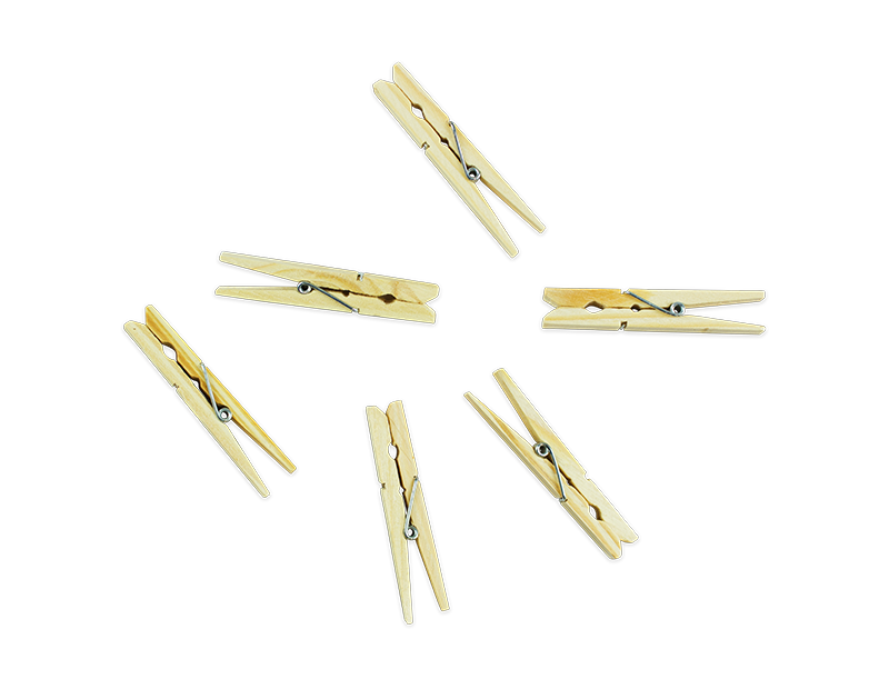 Wooden Clothes Pegs - 36 Pack