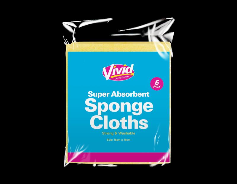 Super Absorbent Sponge Cloths - 6 Pack