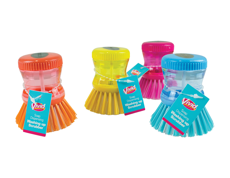 Soap Dispensing Washing Up Scrubber With PDQ