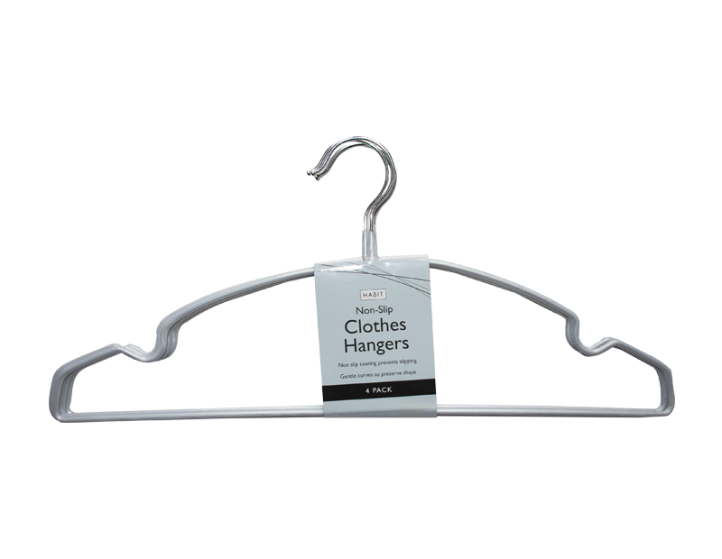 Non-slip Clothes Hangers - 4 Pack