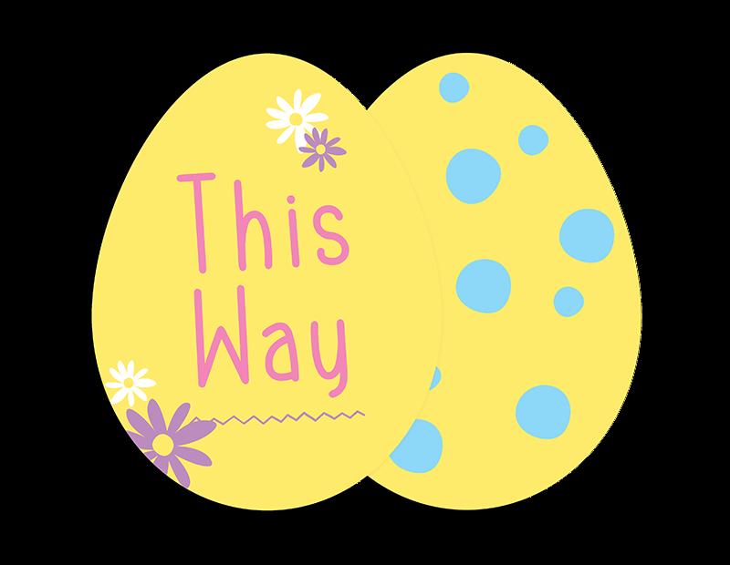 Easter Egg Hunt Signs - 6 Pack