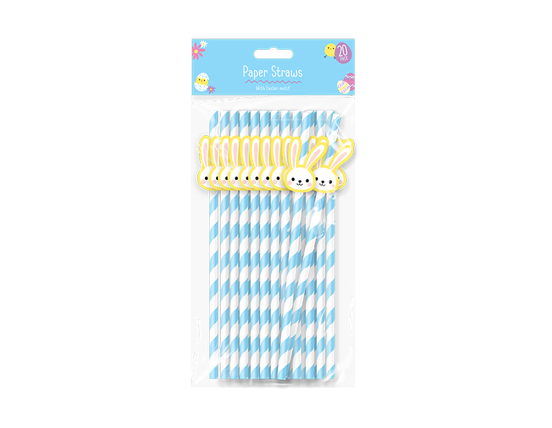 Easter Paper Straws - 20 Pack