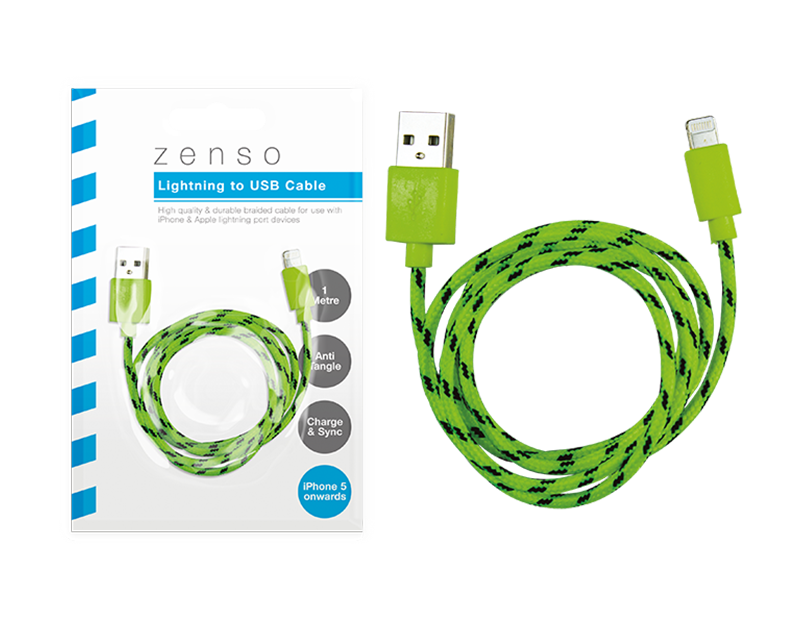 iPhone Braided USB Cable 1m