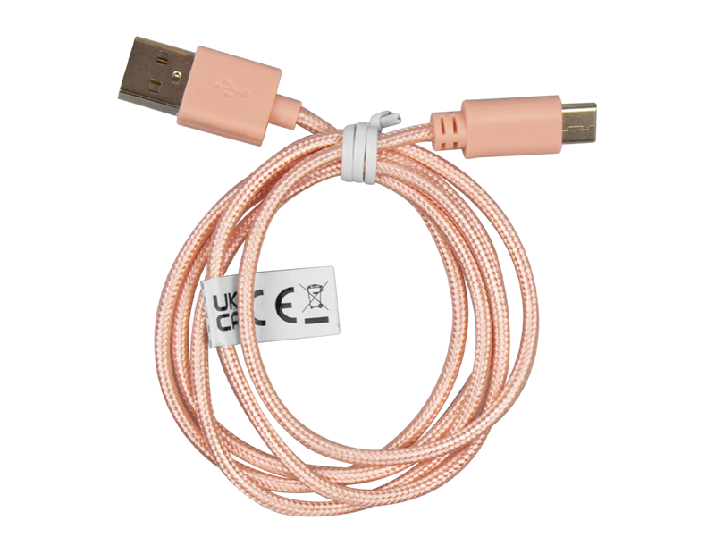 Coloured Braided USB Cable Type C 1m