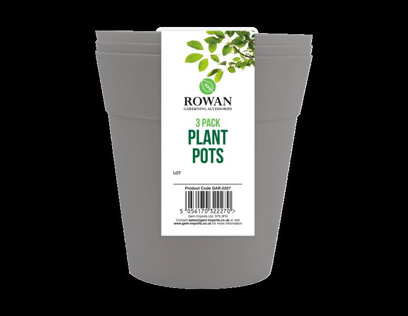 Plant Pots 13cm 3pk