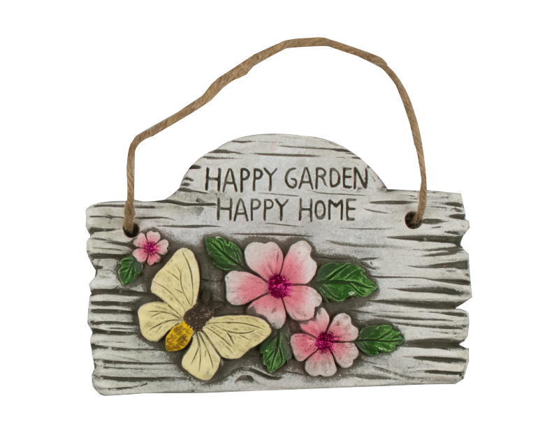 Hanging Garden Cement Plaque With PDQ
