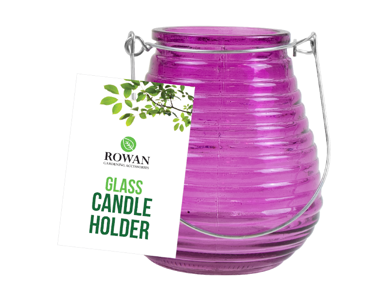 Bright Coloured Glass Candle Holder