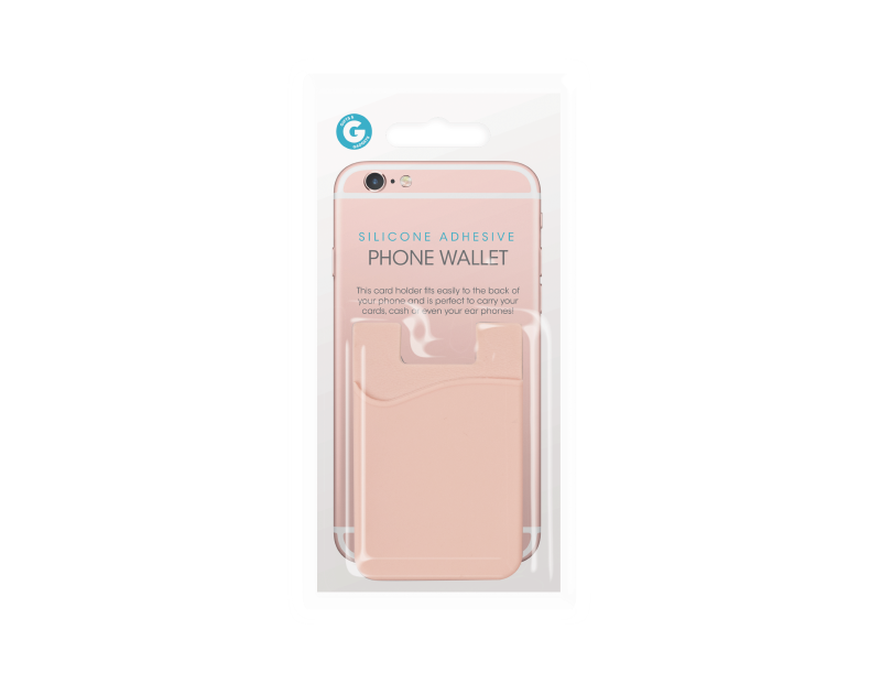 Silicone Adhesive Phone Wallet With PDQ