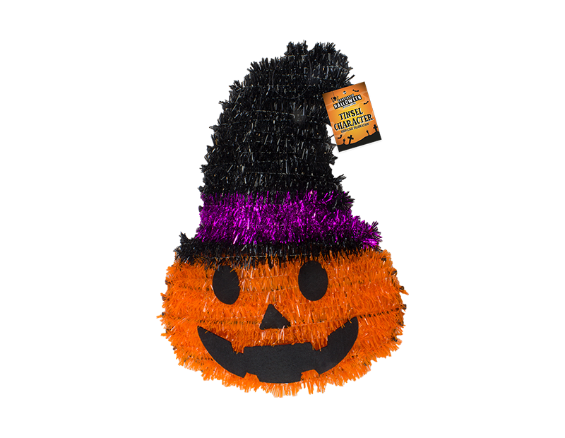 Halloween Tinsel Character Plaque