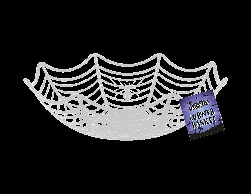 Halloween Cobweb Party Basket 25cm