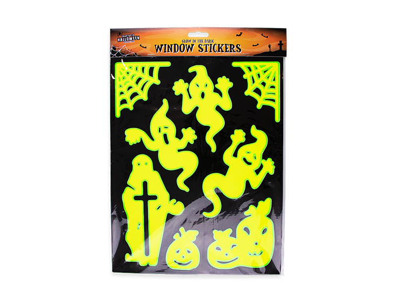 Glow In The Dark Halloween Window Stickers