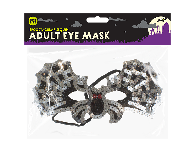 Sequinned Halloween Eye Mask