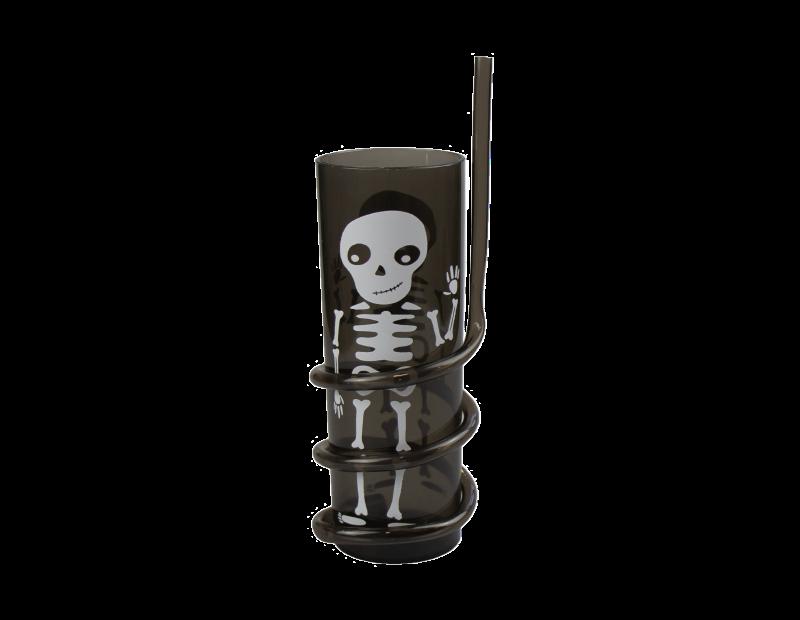 Halloween Spiral Straw Tumbler