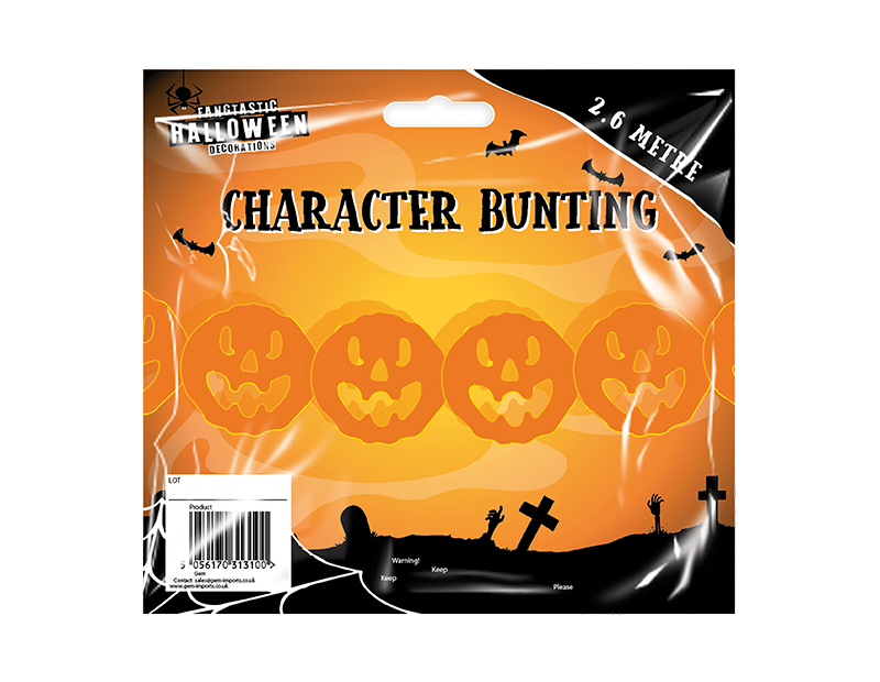 Halloween Character Bunting 2.6m