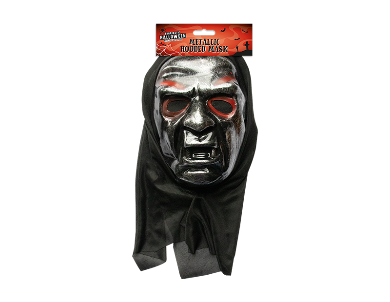 Halloween Metallic Hooded Mask