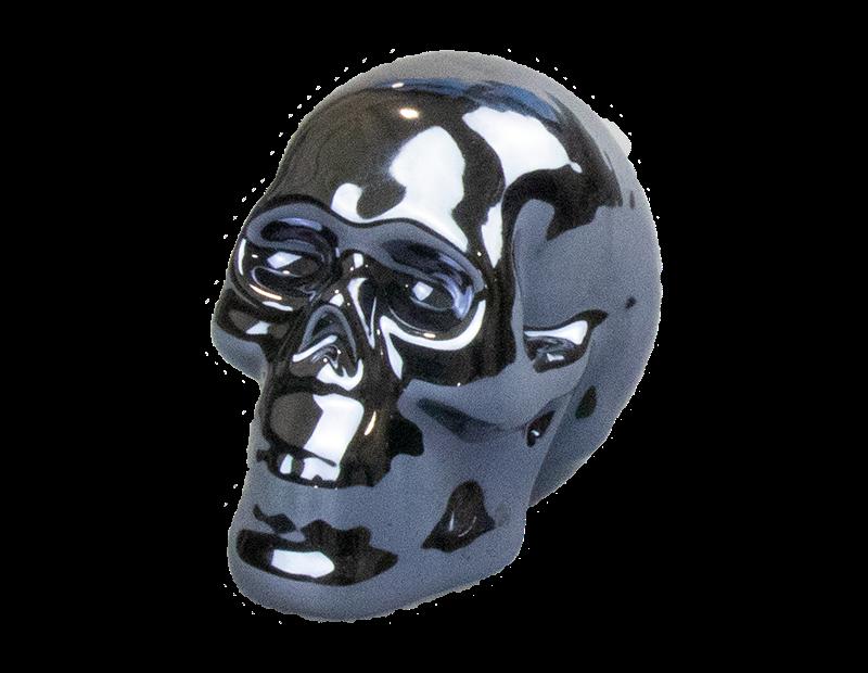 Glazed Skull Ornament