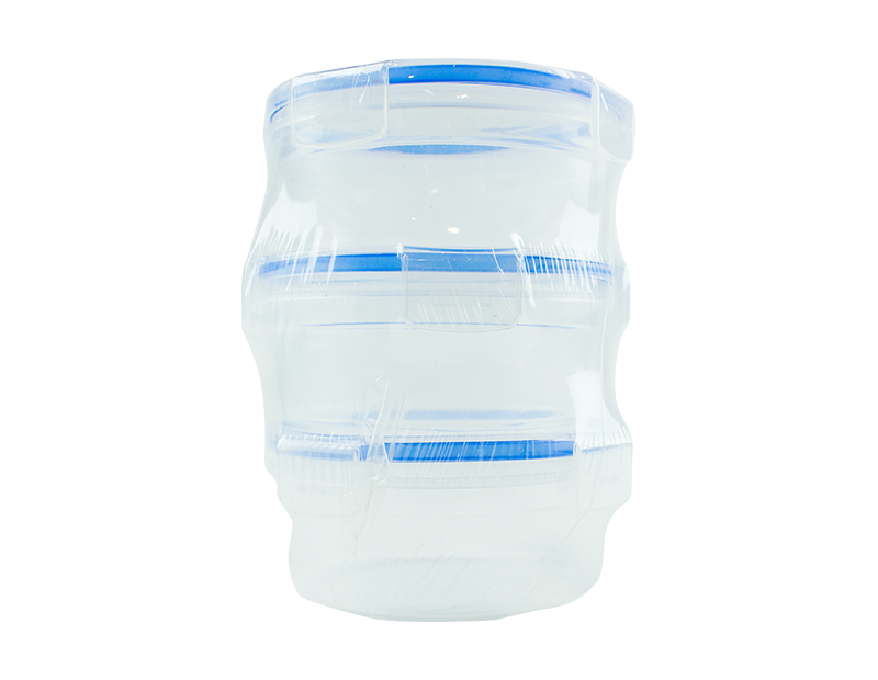 Clip Lock Containers - 3 Pack