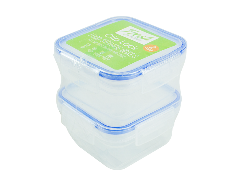 Clip Lock Food Storage Boxes - 2 Pack