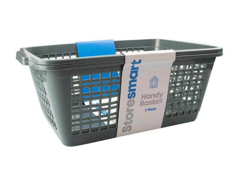 Plastic Handy Basket - 2 Pack